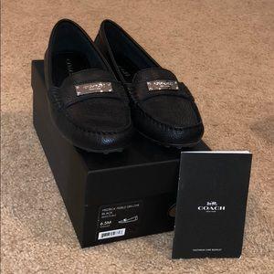 Coach black leather shoes